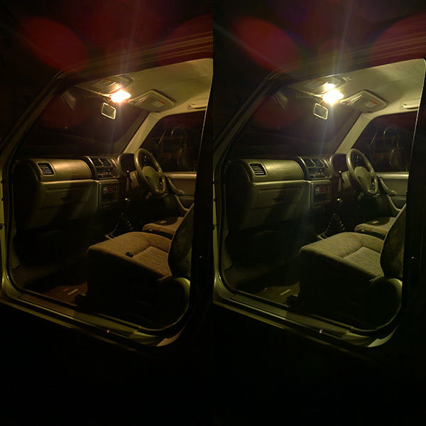 Suzuki Jimny cabin light festoon - LED comparison