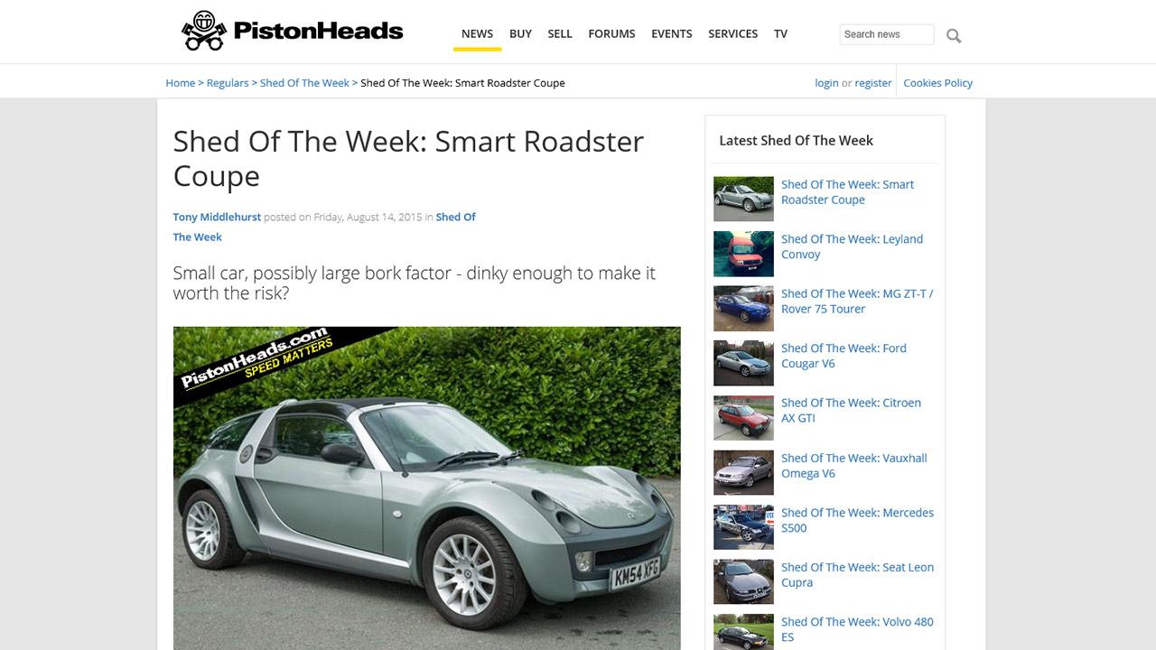 Smart Roadster Coupé + SOTW