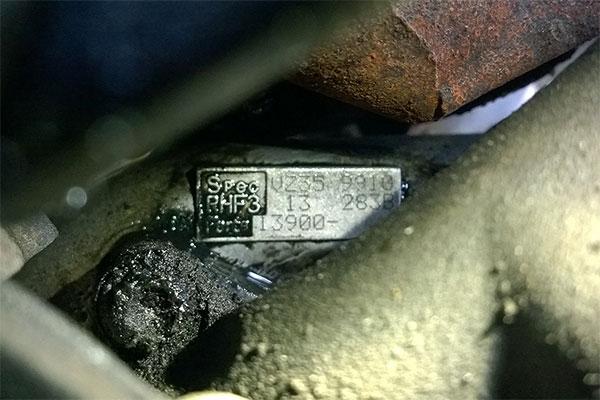 Suzuki Jimny JB23 IHI RHF3 VZ35 ID plate