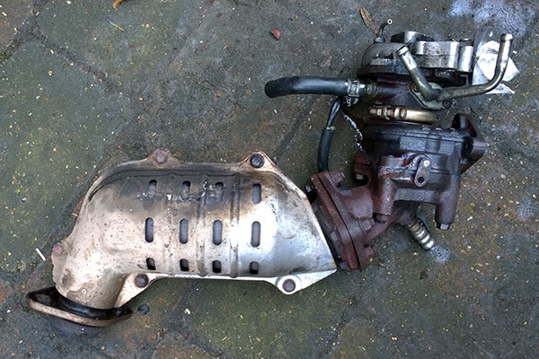 Suzuki Jimny JB23 turbo, dump pipe and catalytic converter