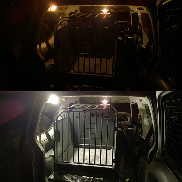 Suzuki Jimny boot light T10 - LED comparison