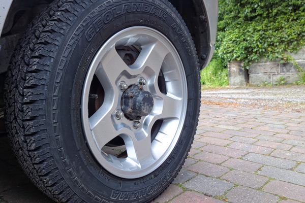 Suzuki Jimny alloy wheels post-refurbishment