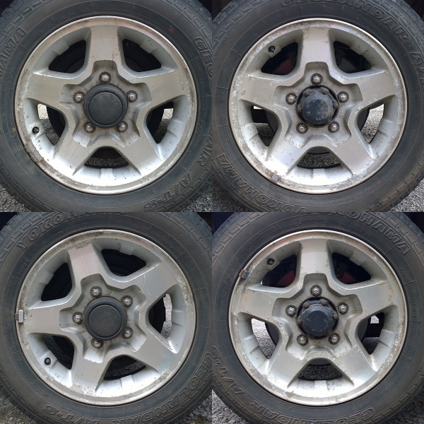 Suzuki Jimny alloy wheels pre-refurbishment